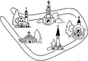 Carte des paroisses de Saint Maur